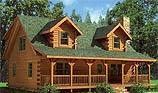 Timberhaven log home design, log home floor plan, Mountain view, and Elevation