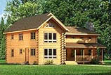 Timberhaven log home design, log home floor plan, Donegal, and Elevation