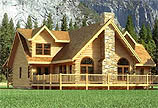 Timberhaven log home design, log home floor plan, Chesapeake, and Elevation