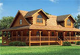 Timberhaven log home design, log home floor plan, River View, and Elevation