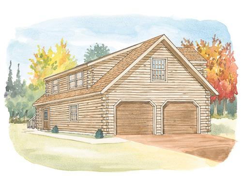 Log home design center account creation for 24x26 garage plans